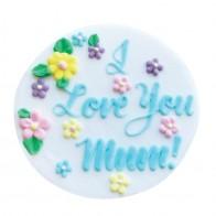 I Love You Mum Gumpaste Plaque