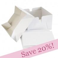 BULK PACK White Wedding Cake Boxes