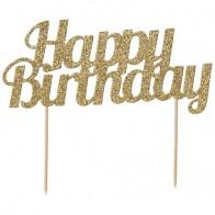 Gold Glitter Happy Birthday