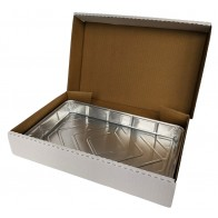 White Traybake Box and Foil - Set of 10