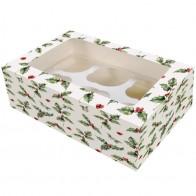 Holly Cupcake Box *PACK OF 5*