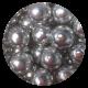 Metallic Silver Chocoballs - Extra Large