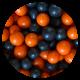 Large Chocoballs Orange & Black