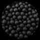 4MM PEARLS MATT BLACK