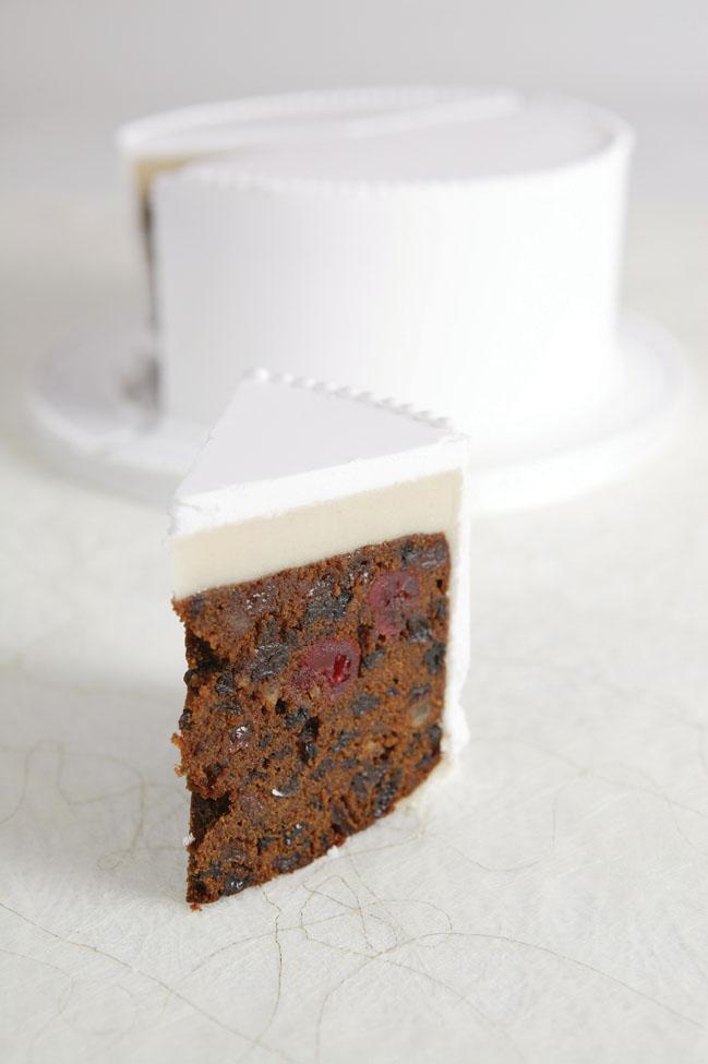 Cut fruit cake
